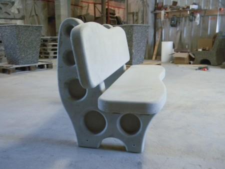 Eurowing Bench in smooth grey no sealer