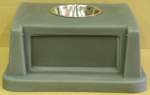 2 Door Square Plastic Lid with ashtray