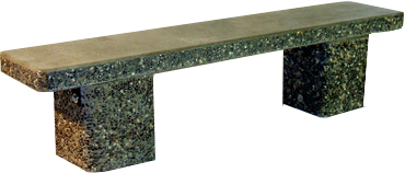 Classic Straight Bench in basic grey with exposed trim