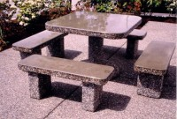 Classic Stone Square Patio Table Set