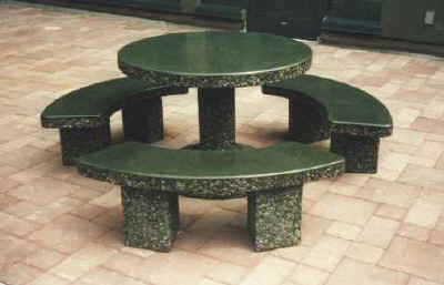 Clic Stone Round Patio Table Set