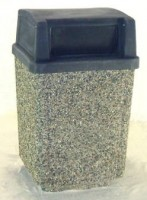 Square Garbage Can with 2 Door Lid