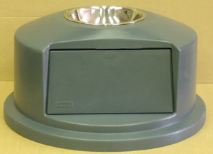 Dome Plastic Lid with Stainless Steel Ashtray insert