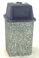 The Duke classic stone square trash can with ashtray