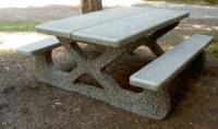 Concrete park picnic table