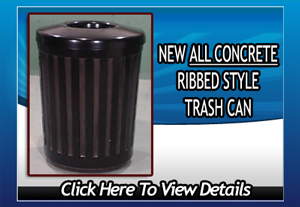 ribbed trash can