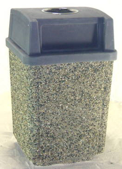 Square Garbage Can with 2 Door Lid & Ashtray
