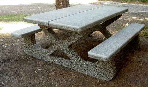 Concrete park picnic table