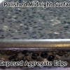 polished midnight exposed aggregate finish