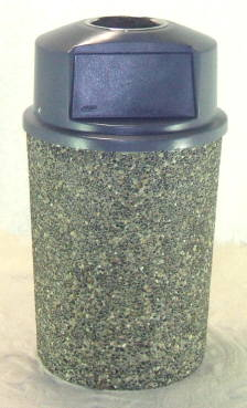 "Classic Stone Round Trash Can with Ashtray - ""THE PRINCE"""
