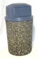 "Classic Stone Round Trash Can - ""THE QUEEN"""