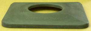Square Plastic Flat Lid green