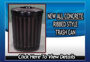 ribbed trash can